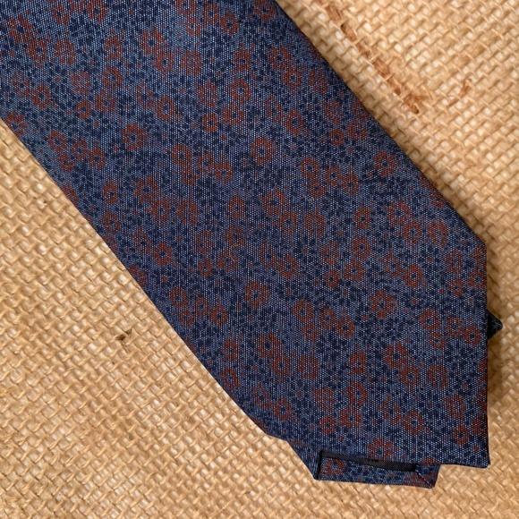 "Bar III Other - NEW Bar III Navy Wine Floral Cotton 2.5"" Necktie"